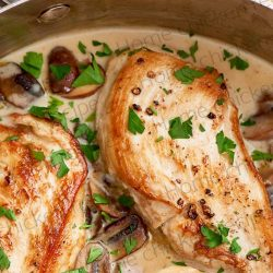 Chicken thighs with creamy