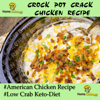 CROCK POT CRACK CHICKEN RECIPE Pin Image
