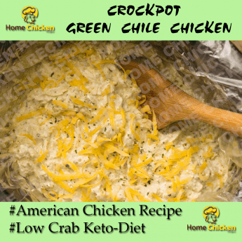 Crockpot Green Chile Chicken RECIPE Pin Image