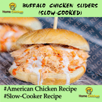 Slow Cooker Buffalo Chicken Sliders Pin Image